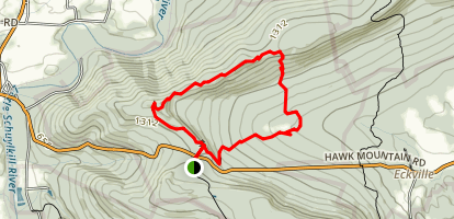 Hawk Mountain Lookout Trail Map
