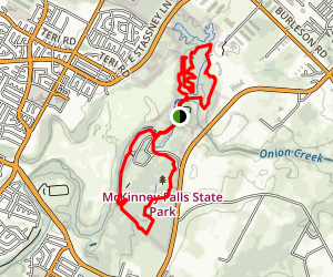 Onion Creek and Homestead Trail Loop Map