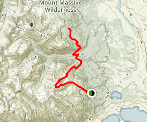 Mount Elbert South Trail Head Map