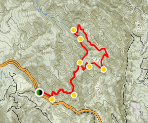 Waldo Canyon Loop Trail Map