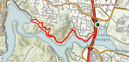 Coast to Crest Trail at Lake Hodges Map