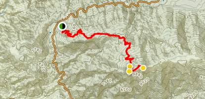 San Bernardino Peak Trail via Angelus Oaks Map