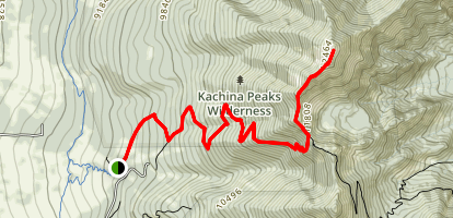 Humphrey's Peak Map
