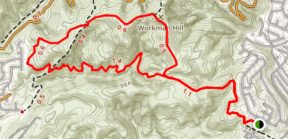 Workman Ridge and Worsham Canyon Trails Map
