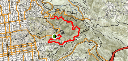 Strawberry Canyon Fire Trail Map