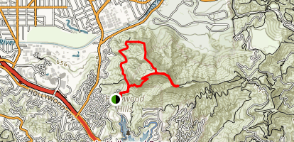 Cahuenga Peak Loop Map