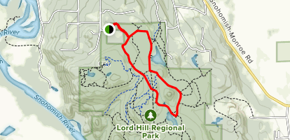 Main Trail and Temple Pond Loop Trail Map