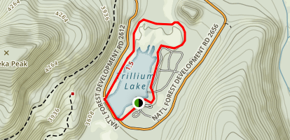 Trillium Lake Loop Trail Map