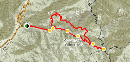 Ice House Canyon Trail Map