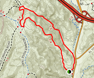 Laurel Canyon - Bommer Ridge Loop Map