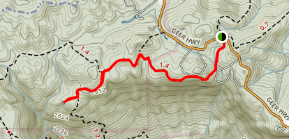 Raven Cliff Falls Trail Map