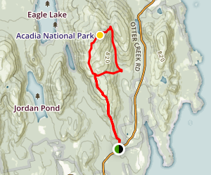 Cadillac Mountain South Ridge Trail Map