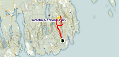 Cadillac Mountain South Ridge Trail Loop Map