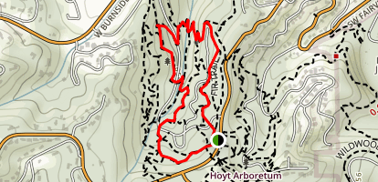 Hoyt Arboretum Trails Map