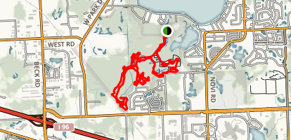 Novi North Park (Tree Farm) Trail Map