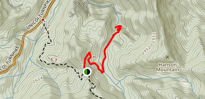 High Shoals Falls Trail Map