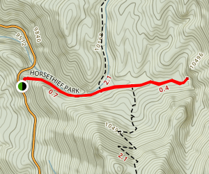 Horsethief Falls Trail Map