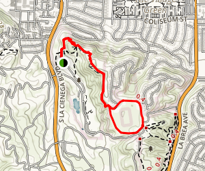 Kenneth Hahn Recreation Area Map