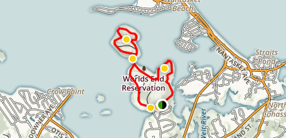 Worlds End Reservation Trail Map