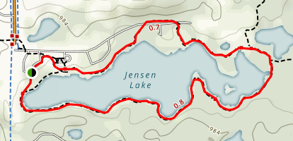 Jensen Lake Trail Map