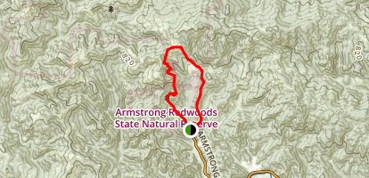 East Ridge and Pool Ridge Loop Trail Map