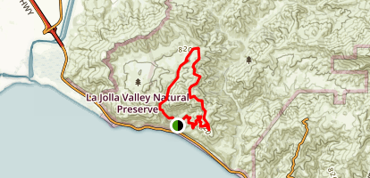 La Jolla Canyon Loop Trail [CLOSED] Map