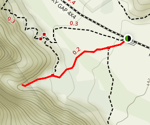 Lost Creek Grotto Trail Map