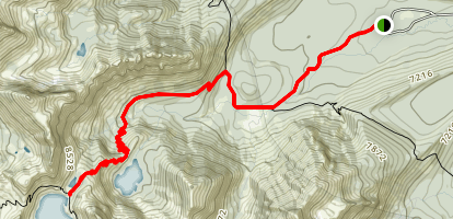 Iron Creek to Sawtooth Lake Map