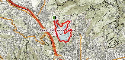 Lake Hollywood Trail Map