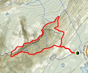 Yamnuska Ridge & CMC Valley Trail Map