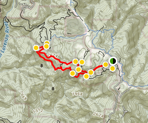 Castle Rock and Goat Rock Trail Map