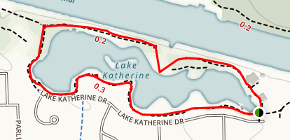 Lake Katherine Trail Map