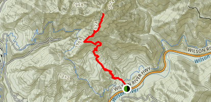 Kings Mountain Trail Map