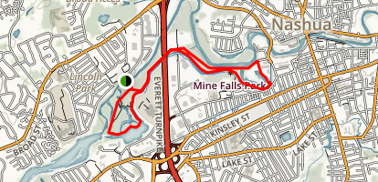 Mine Falls Park, Nashua River Trail  Map