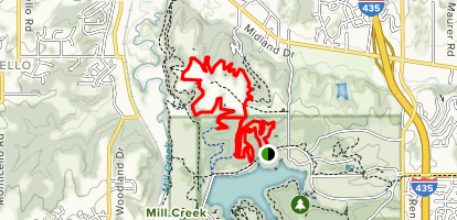 Shawnee Mission Park Orange, Violet, and Red Trail Map