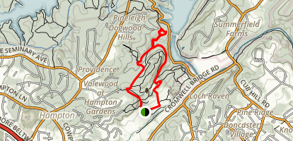 Cromwell Valley Park and Loch Raven Map