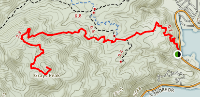 Grays Peak Trail Map