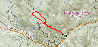 Horseshoe Trail to Frazer Meadow Map