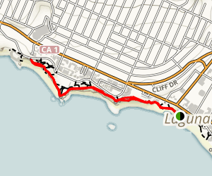 Laguna Beach and Bluffs Map