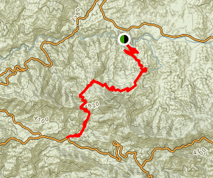 Big Tujunga to Colby Canyon Map
