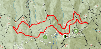 Mount Tamalpais: Middle Peak Loop Trail Map