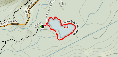 Sprague Lake Trail Map