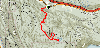 Pine and Cedar Lakes Trail Map