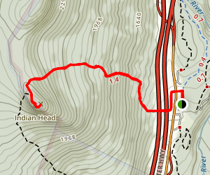 Mount Pemigewasset Trail (Indian Head) Map