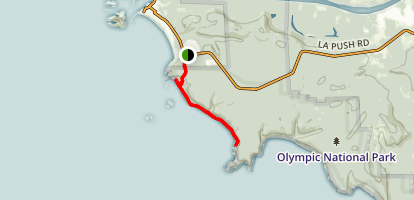 The Quillayute Needles Second Beach Trail Map