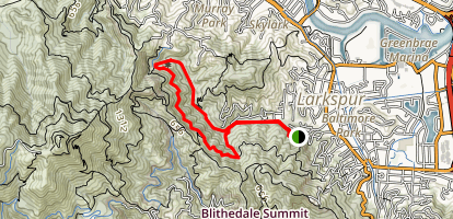 Baltimore Canyon, Dawn Falls Trail Map