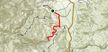 Murray Canyon Trail to Seven Falls Map