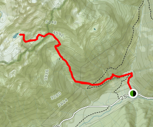 Putvin Trail to Lake of the Angels Map
