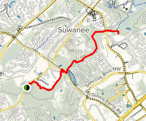 Suwanee Greenway Trail Map