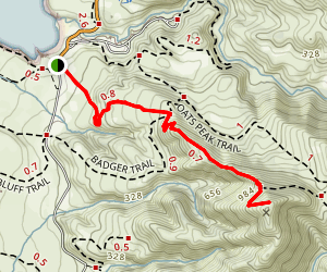 Valencia Peak Trail Map